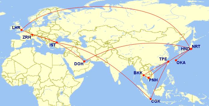 Trip – 17 Tage, 14 Flüge – 1x First Class, 12x Business Class, 1x Economy